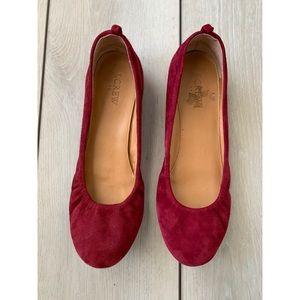 J Crew suede leather ballet flats size 8 shoes